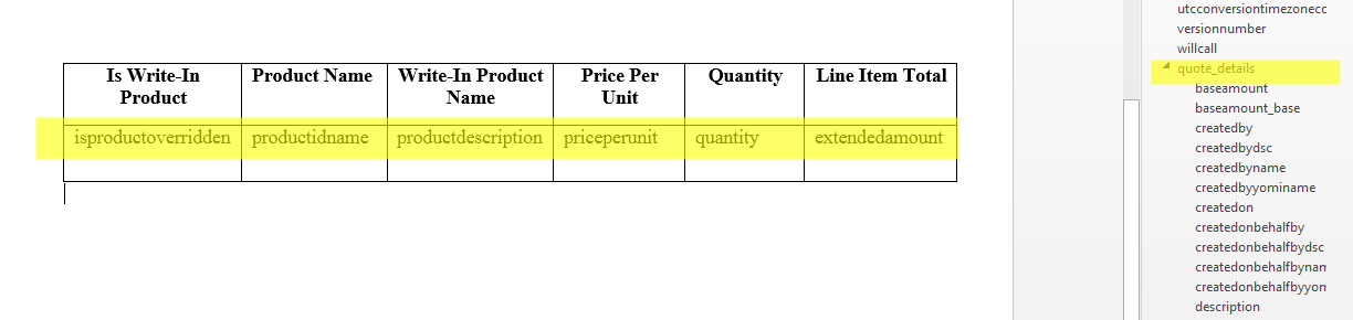 Quote Products