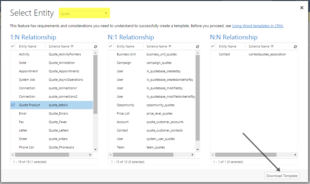 Generating Word Quote Template In Dynamics CRM 40 Scaleable Delectable Crm Quote