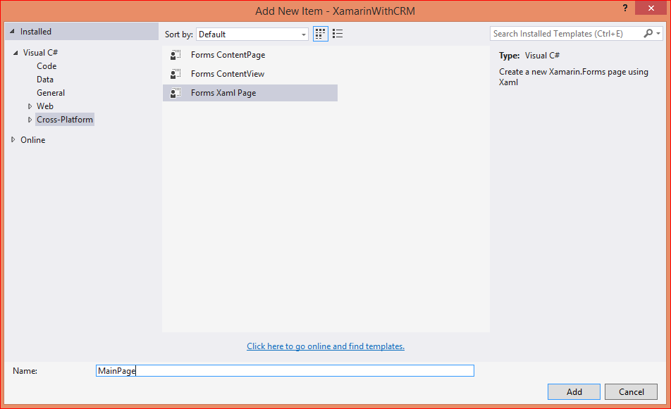 Displaying Microsoft Dynamics CRM records in Listview using Xamarin